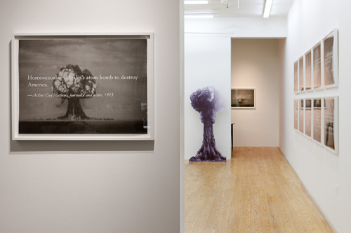 Yevgeniy Fiks, Homosexuality Is Stalin's Atom Bomb to Destroy America, 2013, installation view. Photography by Etienne Frossard. Courtesy of the artist and Winkleman Gallery.