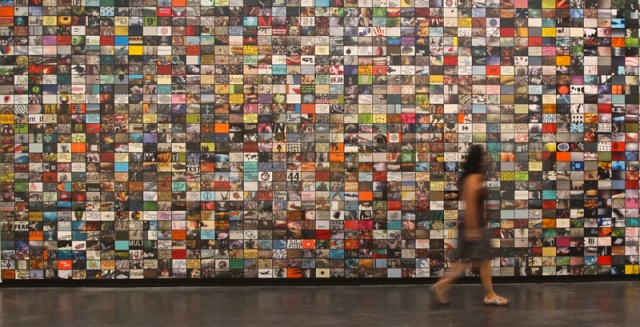 Nayda Collazo-Llorens, Comfortably Numb, 2012, installation detail, 1500 framed images. Courtesy LMAKprojects..