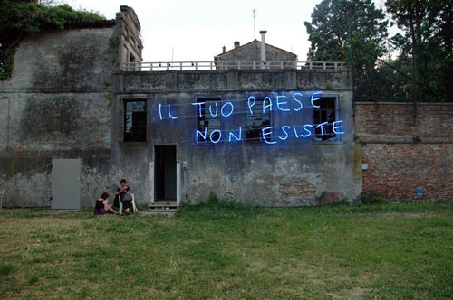 Libia Castro and Ólafur Ólafsson, Il Tuo Paese Non Esiste (Your Country Doesn´t Exist), 2011, for the 54th Venice Biennale. Image from the artists' website.