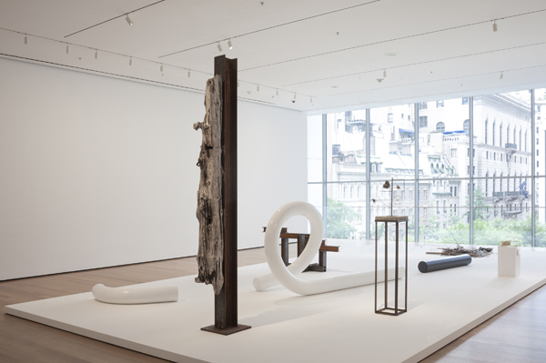 Installation view of the exhibition Carol Bove: The Equinox. July 20, 2013–January 12, 2014. All artworks either courtesy of the artist, Maccarone New York and David Zwirner New York/London or in the collection of MoMA and © 2013 Carol Bove. Photo by John Wronn © 2013 The Museum of Modern Art, New York.