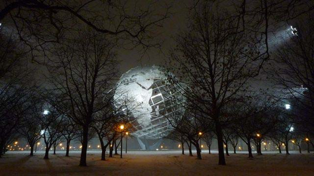 Unisphere at Flushing Meadows Park, NYC, 2013, © Kathleen MacQueen.