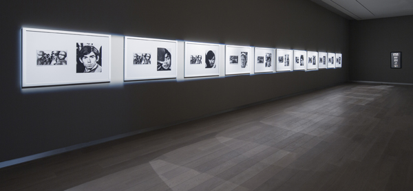 Alfredo Jaar, Faces, 1982. Eleven paired Photostats, installation view, SCAD Museum of Art. Courtesy of Galerie Lelong, New York.