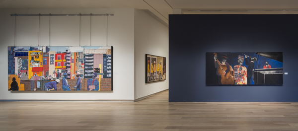 Sam Nhlengethwa: Life, Jazz and Lots of Other Things, installation view at the SCAD Museum of Art, 2014. Courtesy SCAD.