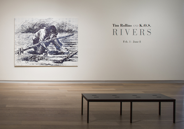 Tim Rollins and K.O.S., RIVERS, 2014, installation view, SCAD Museum of Art. Photography by John McKinnon.