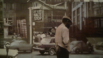Sam Nhlengethwa, Glimpses of the 50s and 60s, 2002-03. Suite of 30 photo collages. Collection of Stefan Ferreira. Photo the author.