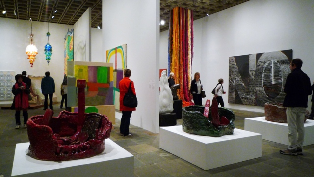 2014 Whitney Biennial, installation view of the fourth floor contribution by curator Michelle Grabner. Photo by the author.