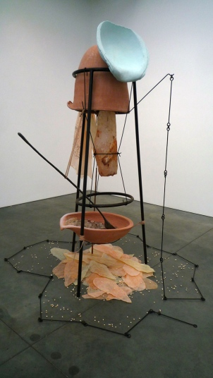"""Tunga, From the Skin, 2014, installation view from """"La Voie Humide,"""" Apr 19 - May 31, 2014, Luhring Augustine, New York."""