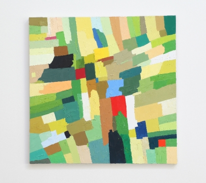 Etel Adnan, Untitled, 1983 Oil on canvas 29 x 29 inches | 73.7 x 73.7 cm. Courtesy Callicoon Fine Arts, New York, NY.