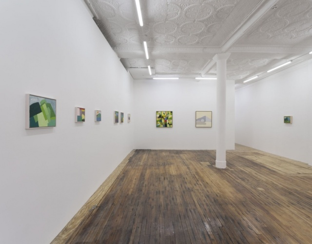 Etel Adnan, installation view, Callicoon Fine Arts, April - May, 2014. Courtesy Callicoon Fine Arts, New York, NY.