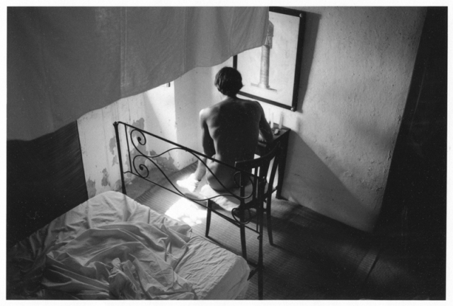 Hervé Guilbert, Écriture, 1983 gelatin silver print 5 5/8 x 8 1/2 inches image size | 14.3 x 21.6 cm. Courtesy Callicoon Fine Arts, New York, NY.