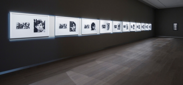 Faces (1982) by Alfredo Jaar; installation view at SCAD Museum of Art; photography by John McKinnon, courtesy of SCAD.