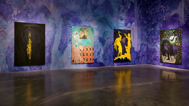 "Installation view: ""Chris Ofili: Night and Day"". Courtesy David Zwirner, New York / London. Photo: Maris Hutchinson. All works © Chris Ofili."