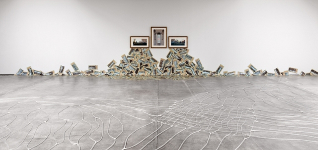 Installation view, Hans Haacke, Paula Cooper Gallery, 521 W 21st Street.