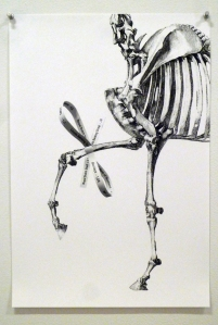 Hans Haacke, Gift Horse (2013) proposal drawing. ©Hans Haacke. Courtesy Paula Cooper Gallery. Photo by the author.