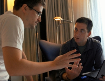 CITIZENFOUR, film still provided by The Guardian Newspaper. Courtesy AP Photo/The Guardian, Glenn Greenwald and Laura Poitras.