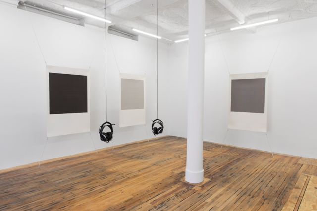 Caroline Bergvall, Drift, installation view, Callicoon Fine Arts, January 9 - February 15, 2015. Courtesy the artist and Callicoon Fine Arts, NY.