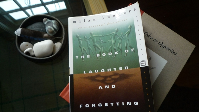 Still life: The Book of Laughter and Forgetting, photo © Kathleen MacQueen.