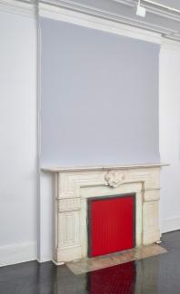 Jaime Davidovich, Fireplace tape project, 1974-2015, installation view Henrique Faria Fine Arts. Courtesy the artist and Henrique Faria, New York.